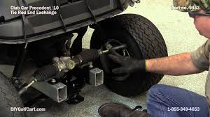 club car precedent tie rod how to replace on golf cart youtube