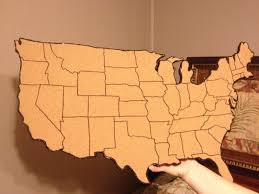 State Map Of United States by My Cork Board Map Of United States Put Small Picture On Every