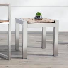 White Wash Coffee Table - macon square teak outdoor side table whitewash outdoor