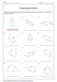 finding the missing angle of a triangle worksheet pictures triangle inequality worksheet kaessey triangle