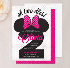 minnie mouse 2nd birthday invitations kawaiitheo com