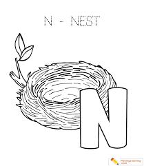 alphabet easy coloring nest kids