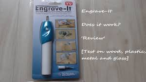 engrave it engrave it engraver pen review wood plastic metal and glass