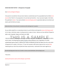 Assist Letter Of Demand Cease And Desist Letter For Copyright Infringement Template