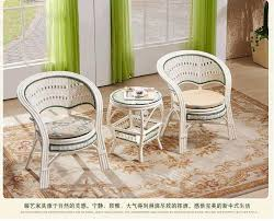 White Rattan Sofa White Natural Rattan Sofas Home Furniture Tea Table Sets 2 Cane