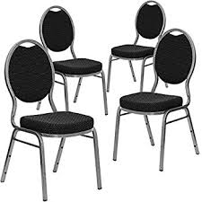 Stacking Banquet Chairs Amazon Com Flash Furniture 4 Pk Hercules Series Crown Back