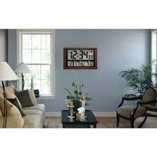 home depot wall decor la crosse technology jumbo digital atomic wood framed wall clock