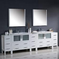 Fresca Bathroom Vanity by Fresca Torino Double 108 Inch Modern Bathroom Vanity White