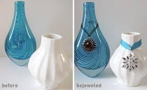 easy bejeweled diy vases merriment design