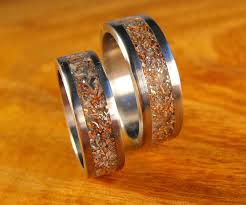 wedding bands his and hers 15 best of titanium wedding bands sets his hers