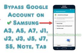 how to bypass android password to bypass account on samsung a3 a5 a7 or j1 j5 j7