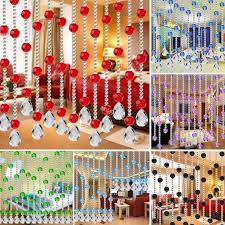 Crystal Beaded Curtains Australia by String Curtain Room Divider Crystal Beads Door Window Wedding Home