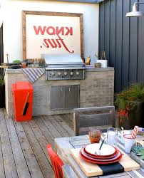 West Elm Outdoor by Brick Base Deck Beach Style With West Elm Traditional Outdoor Wall