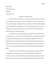 lysistrata themes essay lysistrata documents course hero