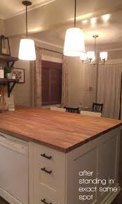 elephant buffet diy butcher block kitchen island before and after not cool blogger not cool at all