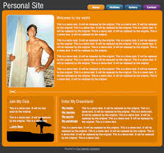 personal website template free website templates