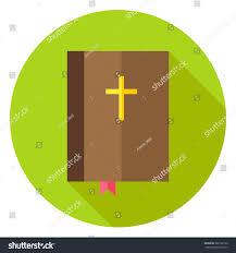 Flag With Bible Bible Book Bookmark Cross Circle Icon Stock Vector 380182126