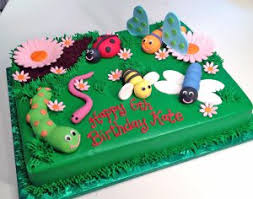 bug cakes bee birthday bugs butterfly cake caterpillar flowers kids bug