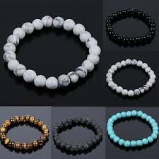bracelet stone beads images Men women natural stone beads bracelets tiger eye turquoise jpg