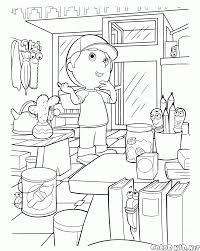 coloring page hide and seek
