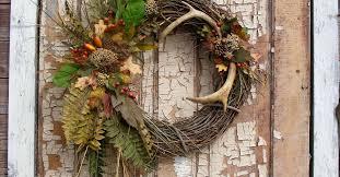 real deer antler wreath hometalk
