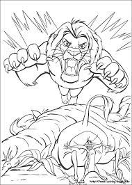 lion king coloring picture coloring pages 2