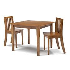 Amazon Com Solutions By Kids R Us Table And 2 Chair Set Honey