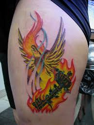 flaming phoenix tattoo designs pictures to pin on pinterest