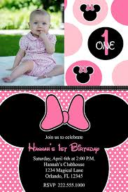 minnie mouse birthday party invitation pink minnie mouse
