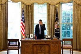 Gold Curtains In The Oval Office The New Obama Oval Office Makeover And Décor In The White House
