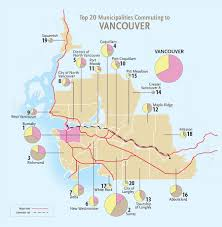Map Of Toronto Canada by Commuting In Montreal Toronto And Vancouver Canadian Geographic