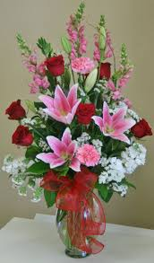 riverside florist a white and pink flower arrangement by your local
