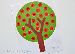 fun apple tree abc match preschool printable i heart crafty things