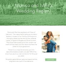 wedding registry donations this charitable registry actually lifies your guests donations
