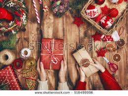 Mother Daughter Christmas Ornaments Merry Christmas Happy Holidays Mother Father Stock Photo 517143574
