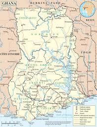 Ghana Africa Map by Ghana Maps Maps Of Ghana