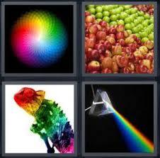 color spectrum puzzle 4 pics 1 word answer for rainbow apple lizard prism heavy com