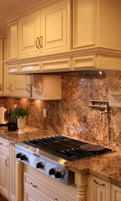 raised panel creme maple glazed kitchen cabinets for less