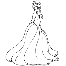 coloriage princesse je dessine