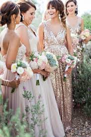 rent a bridesmaid dress in blush and sequins via rent the runway deer pearl