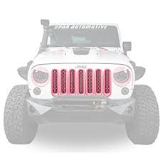 white and pink jeep amazon com opar pink front mesh grille inserts for 2007 2015 jeep