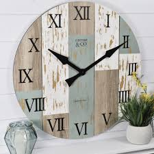 firstime 27 in multi color oversized timberworks wall clock 31016