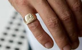 signet wedding ring custom signet ring custom made signet ring
