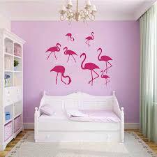 bird wallpaper home decor promotion designer wall decals animals flamingo pink birds flock