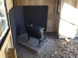 wood stove heat shield ideas image collections home fixtures
