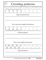 patterns in kindergarten kindergarten preschool reading writing worksheets creating