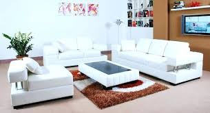 White Leather Living Room Set White Leather Living Room Furniture Uberestimate Co