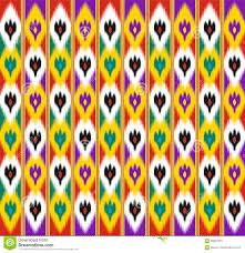 khan atlas ikat ornament stock vector image of satin 93857675