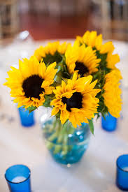 sunflower centerpieces creative idea creative fresh yellow sunflower centerpieces near