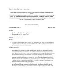 letter of agreement template non disclosure agreement template 02